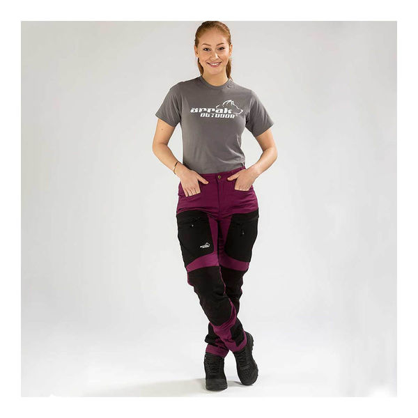 Arrak Outdoor Active Stretch Pants naisten retkeilyhousut, Fuksianpunainen